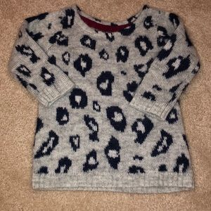 Grey and Navy leopard sweater